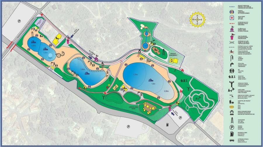 Mapa jezera