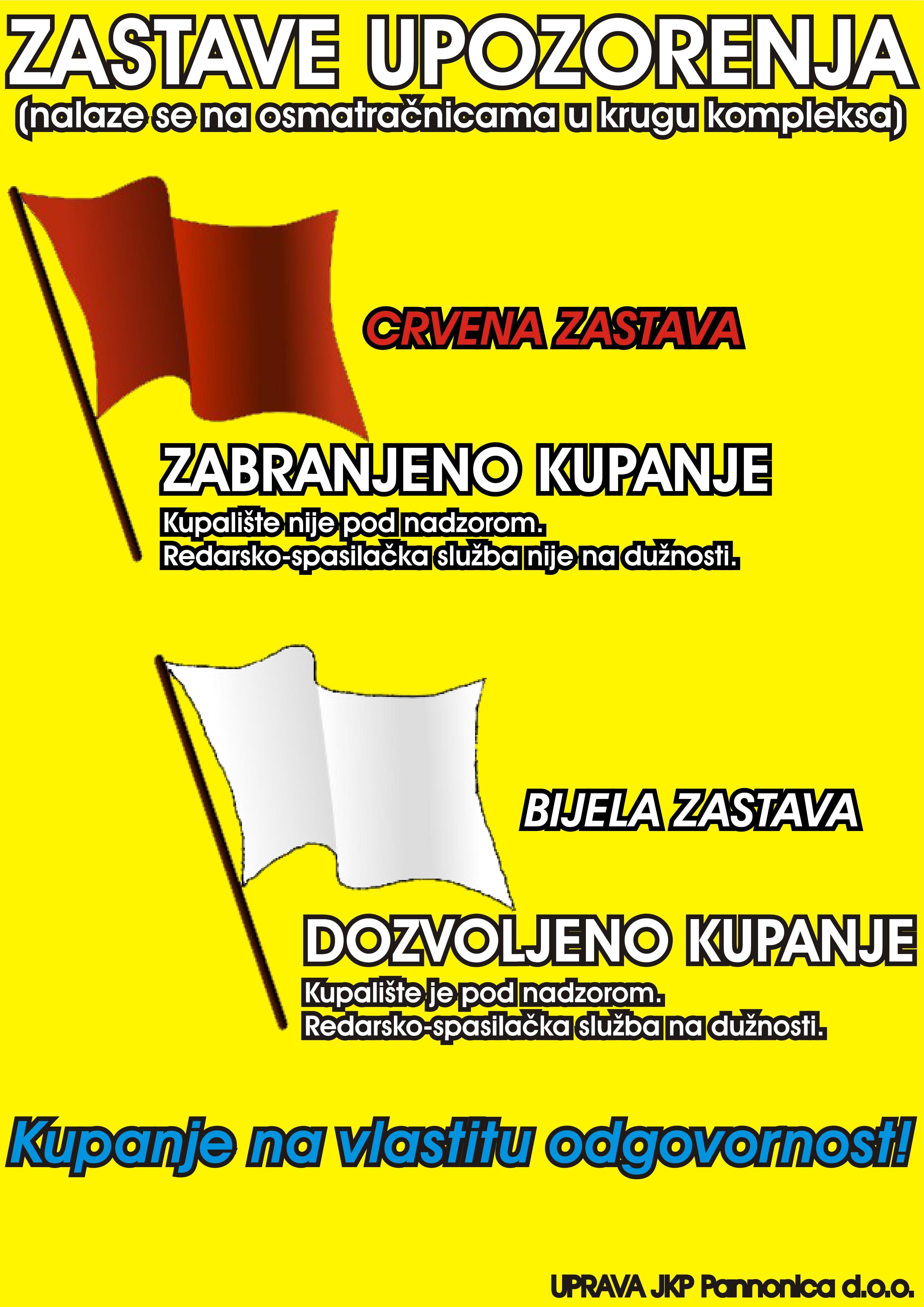 zastave upozorenja